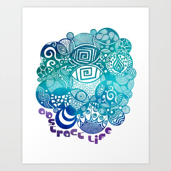 Abstract Life Art Print