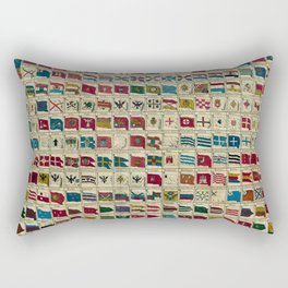 Vintage Naval Flags of The World Illustration Rectangular Pillow