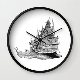 Snail Temple Wall Clock