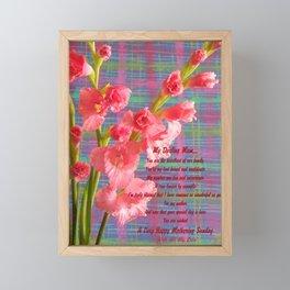 Gladiolus - 'Mum' Framed Mini Art Print