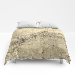 Vintage Map of The Colorado River (1858) Comforters