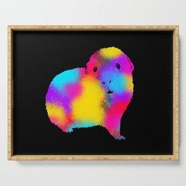 Spray Paint Graffiti Guinea Pig Serving Tray