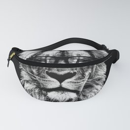 Hipster Lion Black Fanny Pack
