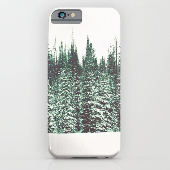 Snow on the Pines iPhone & iPod Case