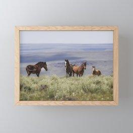 On the Mountain Framed Mini Art Print