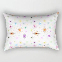 Colorful Twinkling Stars Pattern Rectangular Pillow