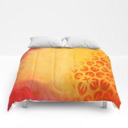 Firery Flowering Comforters
