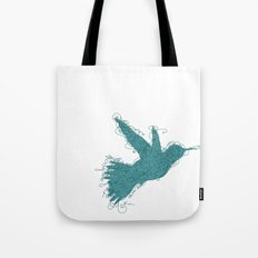 Bird Fly No. 1 (Aqua) Tote Bag