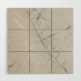 Silver Splatter 089 Wood Wall Art