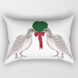 12 Days of Christmas Two Turtle Doves Rectangular Pillow