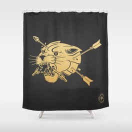 Dark Panther - Color Shower Curtain