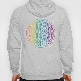Flower Of Life Rainbow Sacred Geometry Hoody