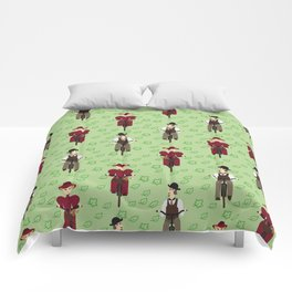 Retro cyclists. Summer Comforters