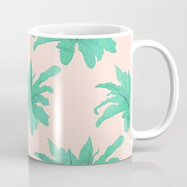 Trendy Tropical Green Plants Foliage Modern Design Coffee Mug
