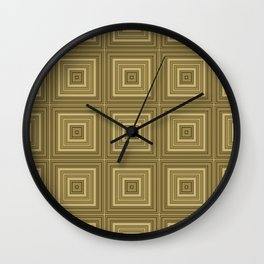 Olive plaid rn Wall Clock