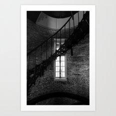 Spiral & Window Light Art Print