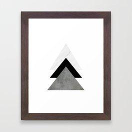 Arrows Monochrome Collage Framed Art Print