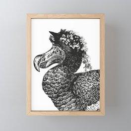Mrs Dodo | Black & White Framed Mini Art Print