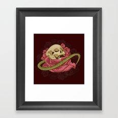 Skull N Roses Framed Art Print