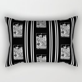 Black and White Repeating Striped Pattern - The Empress Rectangular Pillow