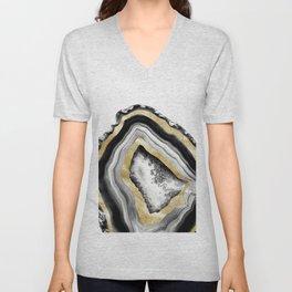 Agate Gold Foil Glam #1 #gem #decor #art #society6 Unisex V-Neck