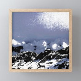 Light on mountains and clouds Framed Mini Art Print