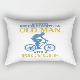 Bicycle Old Man Rectangular Pillow