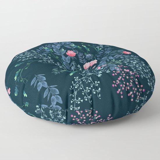 Floral - Blue & Pink by dafiribnikar