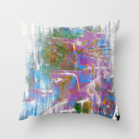 Sky Dive - colorful abstract painting. Throw Pillow