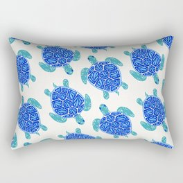 Sea Turtle – Blue Palette Rectangular Pillow