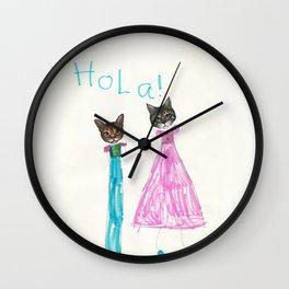 Hola Cats! Wall Clock