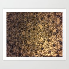 Mandala in Gold Art Print