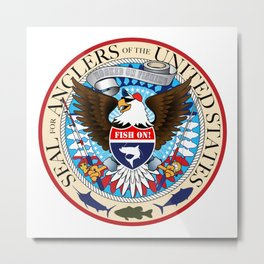 Seal For Anglers of the USA Metal Print