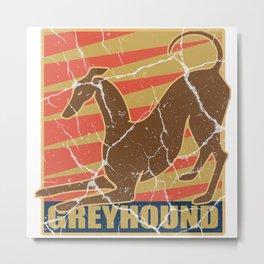 Greyhound dog gift greyhound pet animal Metal Print