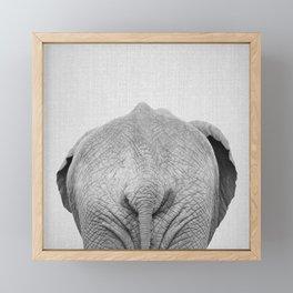 Elephant Tail - Black & White Framed Mini Art Print