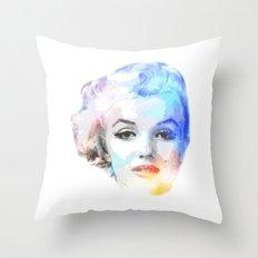 The Blond Bombshell Throw Pillow