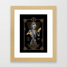 The Reader X Tarot Card Framed Art Print