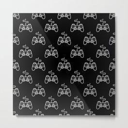 Video Game Gamepad Pattern Metal Print
