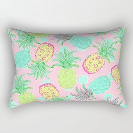 Pineapple Pandemonium Tropical Spring Rectangular Pillow