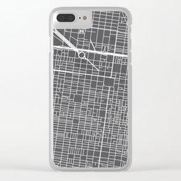 Center City Philadelphia Map Clear iPhone Case