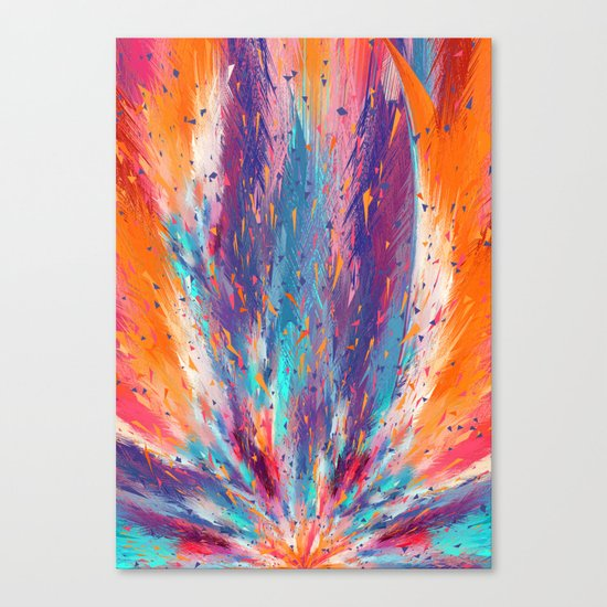 Colorful Fire Canvas Print
