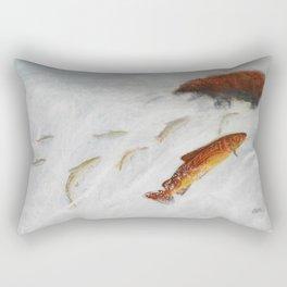 La remontée du saumon Rectangular Pillow