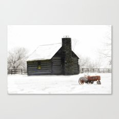 A Snowy Day in the Country Canvas Print