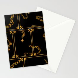 Unchained: Gold + Black Stationery Cards