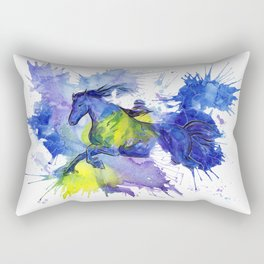 Watercolor and Ink Horse Rectangular Pillow