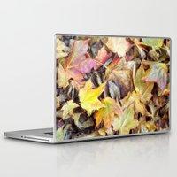 blanket Laptop & iPad Skins featuring autumn blanket by Bonnie Jakobsen-Martin