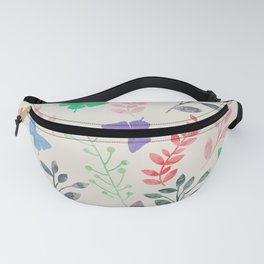 Watercolor flowers & butterflies Fanny Pack