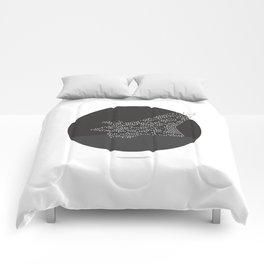 Soars to ever darker height Comforters