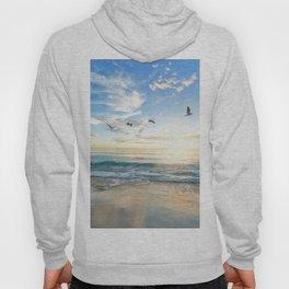 Ocean Beach Waves Sunset Photo Hoody