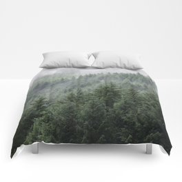 Fog Forest Comforters
